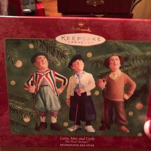 2000 Hallmark Three Stooges Ornaments-Mint in box